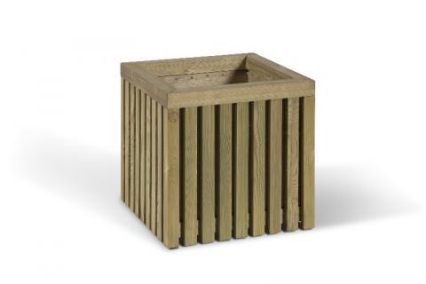 Offre pour une jardinière en extérieur en bois traité classe 4 de chez collstrop, dimensions 44 x 43.3 x 43.3 cm