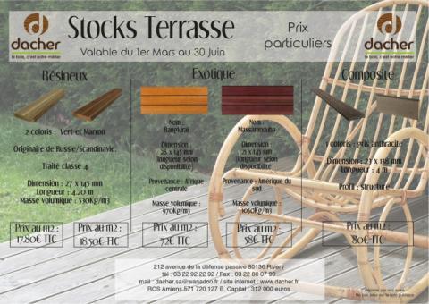 Les Stocks Terrasse : Qui dit Mars, dit printemps ! - Établissement Dacher