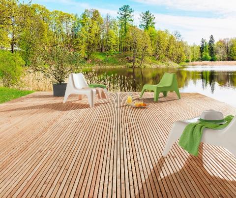 Nouveau : module de terrasse en bois mélèze qui allie esthétisme et facilité de pose