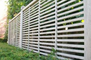 clôture bois exotique Isaura